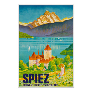 Spiez,Switzerland,Travel Pposter Poster