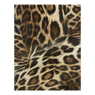Spiffy Leopard Spots Leather Grain Look 21.5 Cm X 28 Cm Flyer
