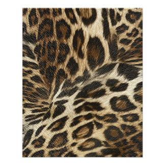 Spiffy Leopard Spots Leather Grain Look Flyers