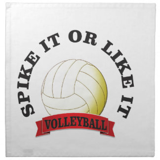 spike it and like it volleyball napkin
