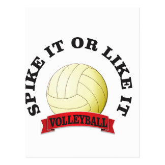 spike it and like it volleyball postcard