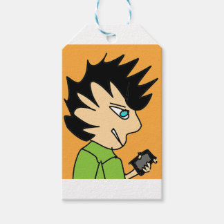 spike kid cartoon face gift tags