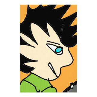 spike kid cartoon face stationery