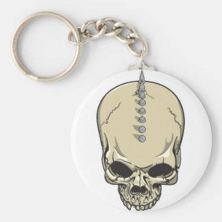 Spike Skull Key Ring