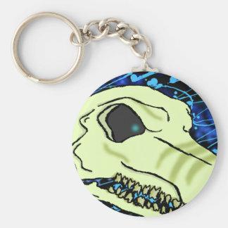 Spike Skullbg Basic Round Button Key Ring