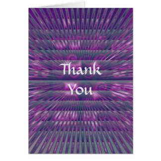 Spikey Purple Vertical Thank You Card