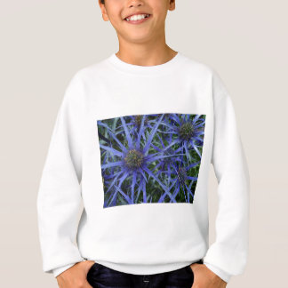 SPIKY BLUE SEA HOLLY FLOWER Sweatshirt
