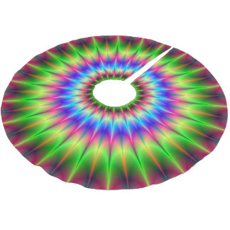 Spiky Color Explosion Brushed Polyester Tree Skirt