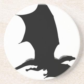 Spiky Dragon Silhouette Coaster
