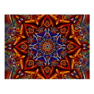 Spiky flower postcard