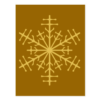 Spiky Gold Winter Christmas Ice Crystal Postcard
