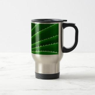 Spiky Green Leaf Pattern Coffee Mug