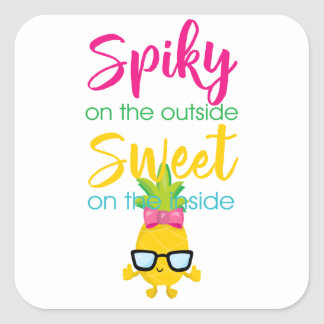 Spiky On the Outside Sweet on Inside Square Sticker