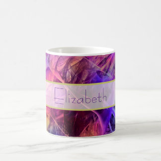 Spiky Shiny Faux Glass Texture Abstract Design Basic White Mug
