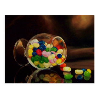 Spill the Beans Postcard