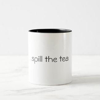 spill the tea Two-Tone mug