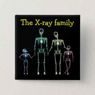 Spilla xray family 15 cm square badge