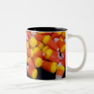 Spilled Candy Corn Mug (black inside)