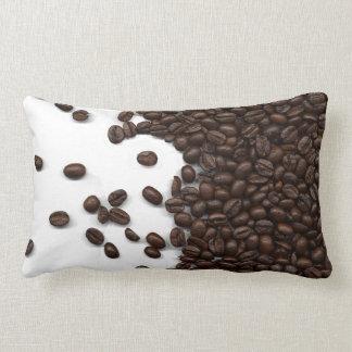 Spilled Coffee Beans Lumbar Cushion