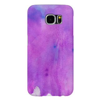 Spilled Purple Watercolor With Blue Highlights Samsung Galaxy S6 Cases
