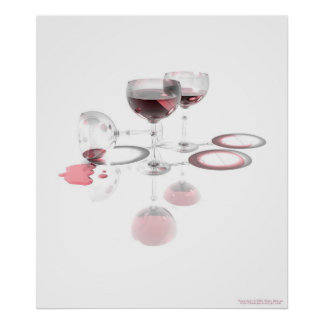 Spilled Wine Poster
