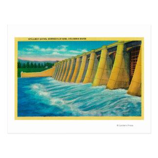 Spillway Gates on Bonneville Dam Postcard