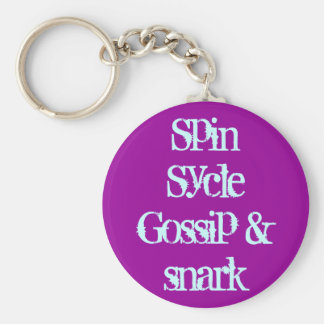 Spin Sycle Gossip & snark Basic Round Button Key Ring