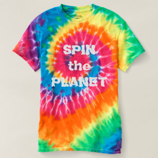 Spin the Planet Rainbow Spiral Tie Dye T-Shirt