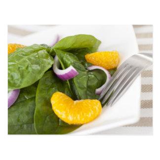Spinach Mandarin Salad Postcard