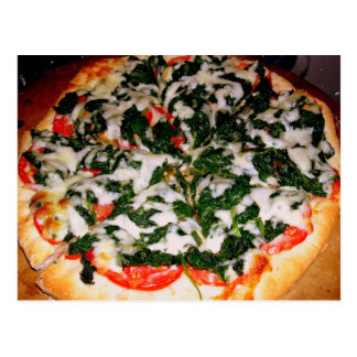 Spinach Pizza Food Photography Postcard