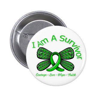 Spinal Cord Injury Butterfly I Am A Survivor 6 Cm Round Badge