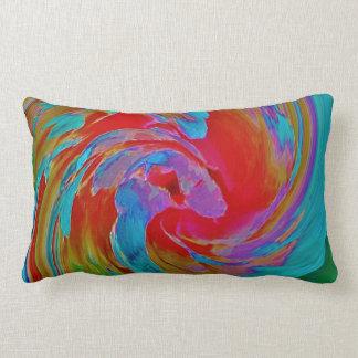 Spinart! Fluorescing Floral Lumbar Pillow