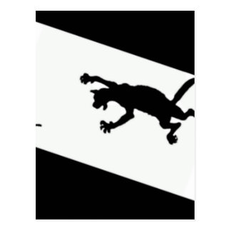 Spinderok - Cat Chasing Mouse Postcard