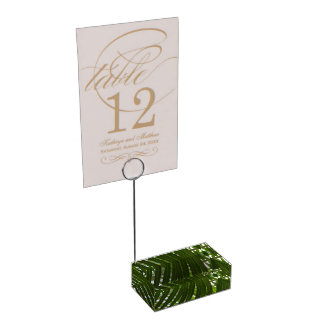 Spindle Palm Table Card Holder