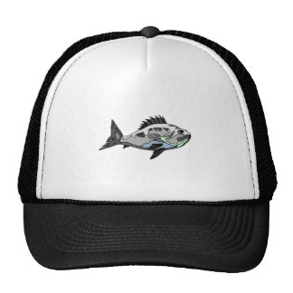 Spine Fish Trucker Hats