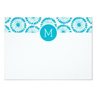 Spinner Custom Monogram Stationery Card
