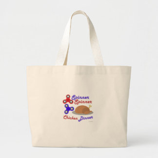 Spinner Spinner Chicken Dinner Large Tote Bag