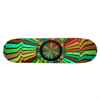 Spinning around abstract design 18.1 cm old school skateboard deck
