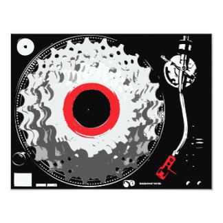 Spinning Cogs 11 Cm X 14 Cm Invitation Card