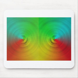 Spinning colours in reflection mouse pad