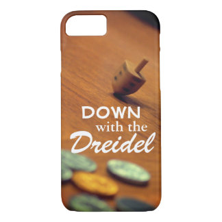 Spinning Dreidel Photo with Funny Hanukkah Text iPhone 8/7 Case