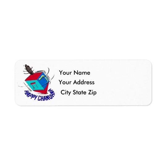Spinning Dreidel. Return Address Label