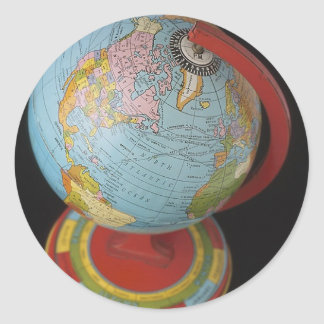 Spinning Globe Round Sticker