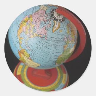 Spinning Globe Round Sticker