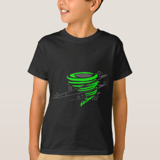 Spinning green tornado T-Shirt