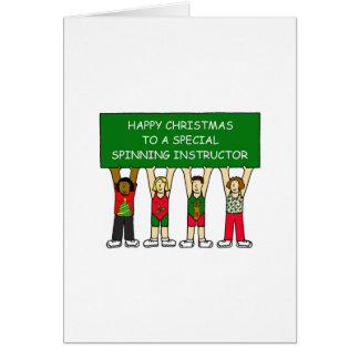SPINNING INSTRUCTOR HAPPY XMAS CARD