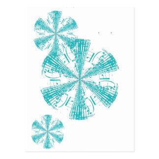 Spinning Musical Score Postcard