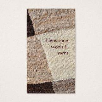 Spinning or knitting undyed wool business card