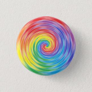Spinning Rainbow 3 Cm Round Badge