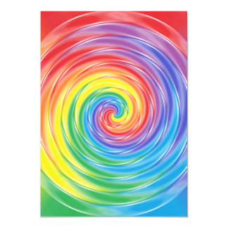 Spinning Rainbow Card